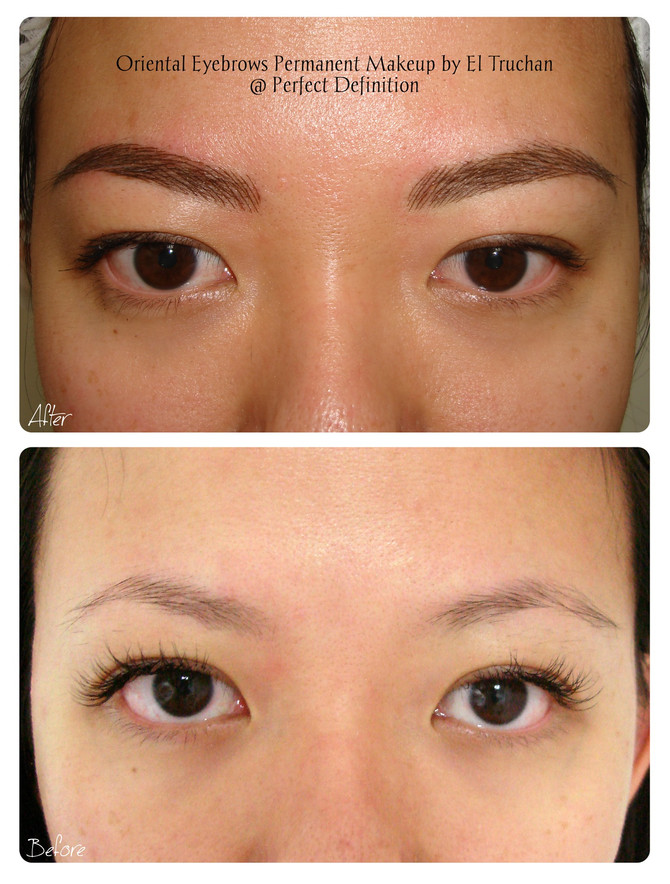 Oriental Eyebrows Permanent Makeup by El Truchan @ Perfect Definition