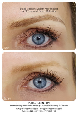 Blonde Eyebrows Realism Microblading by El Truchan _ Perfect Definition