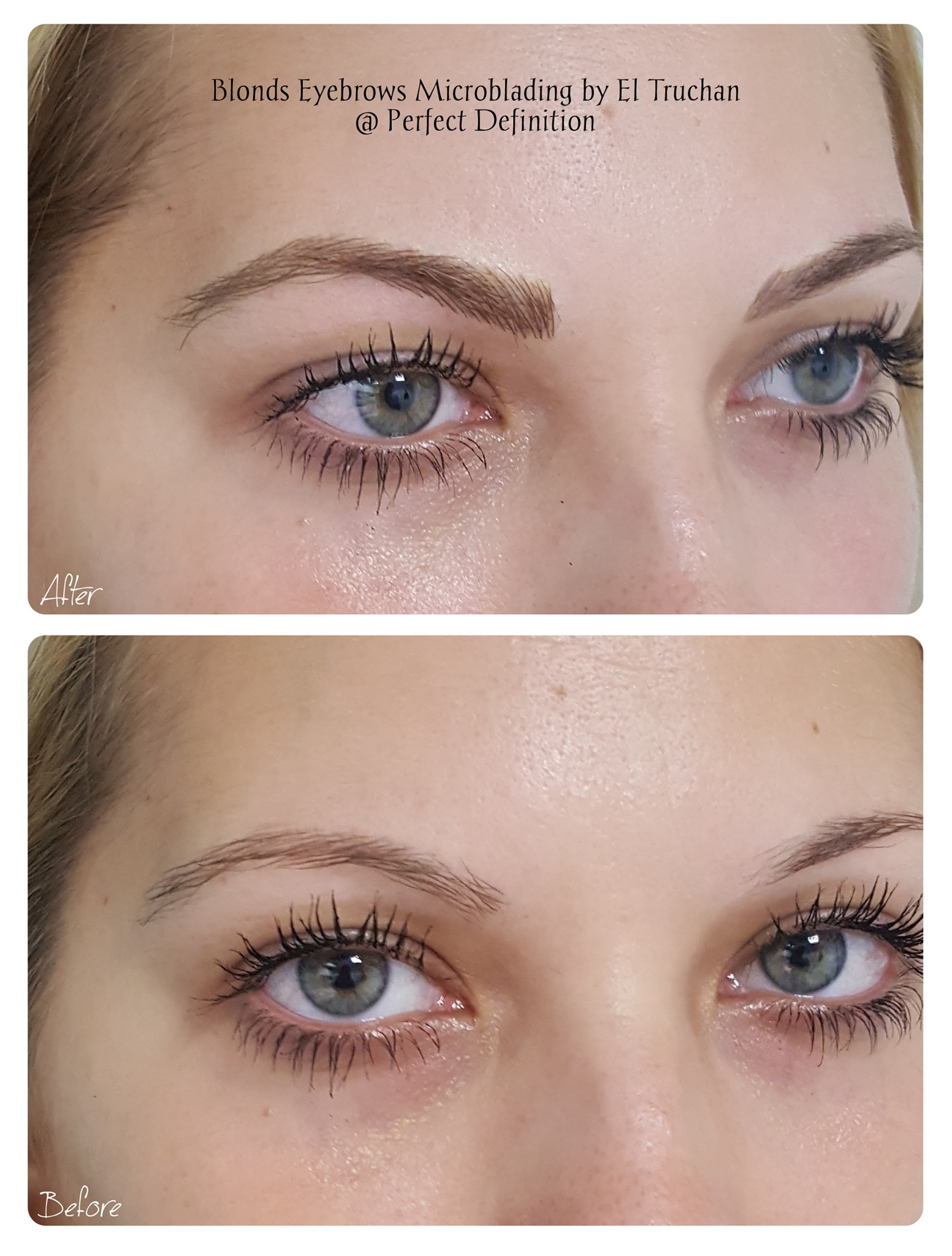 Blondes Eyebrows Microblading by El Truc