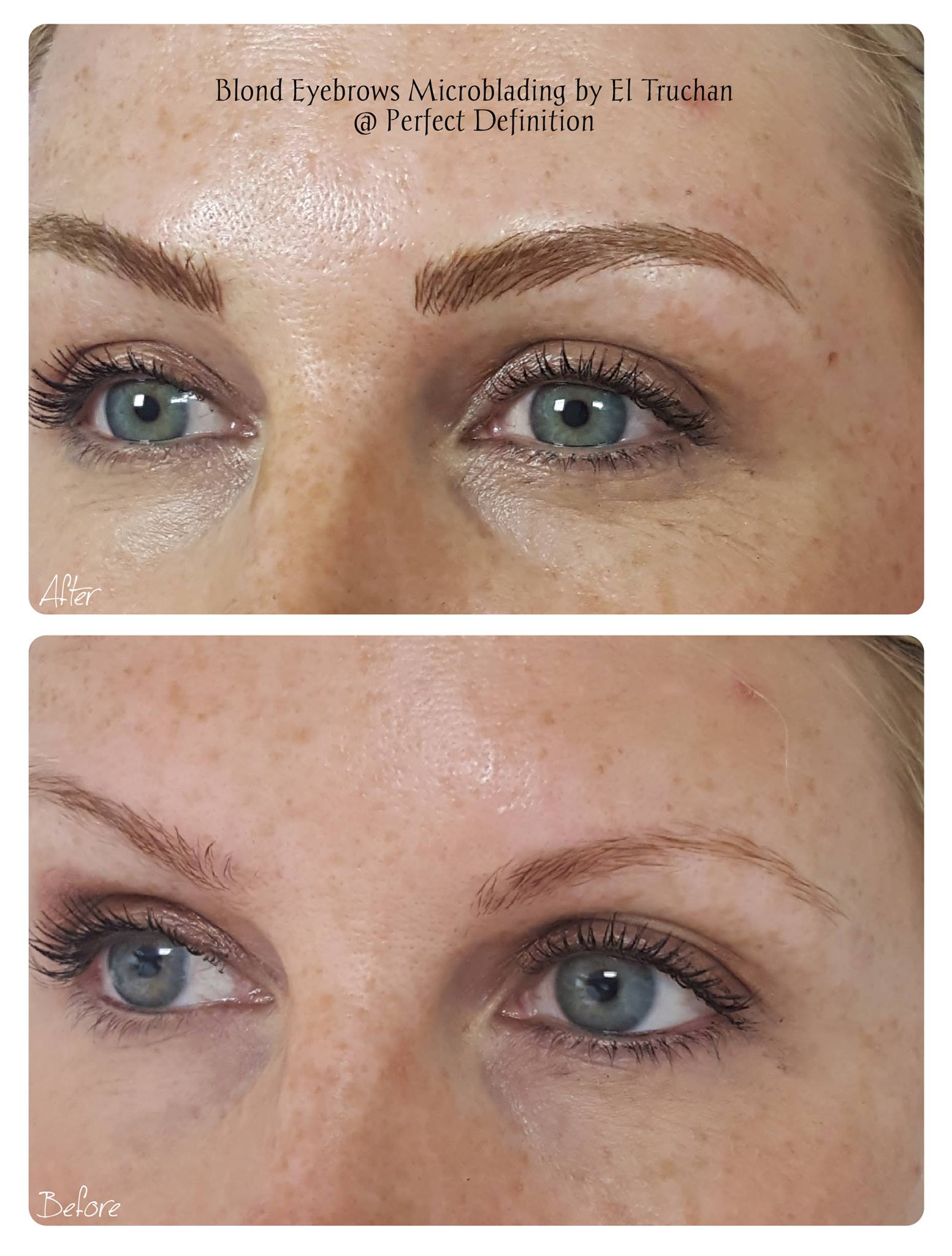 Microblading Blonde Eyebrows Density & Shape Restoration