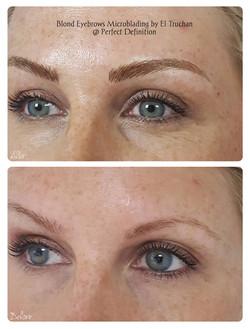 Microblading Blonde Eyebrows Density & Shape Restoration
