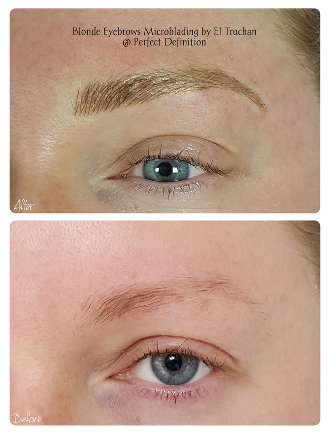 Blonde Eyebrows Microblading by El Truchan @ Perfect Definition
