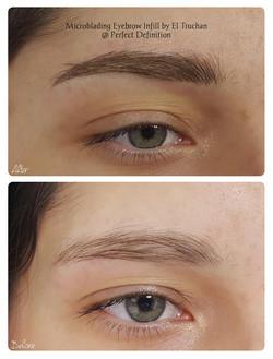 Eyebrows Microblading for Density Restoration