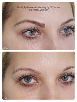 Blonds Eyebrows Microblading by El Truchan _ Perfect Definition