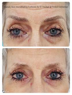 Mature Skin Microblading Eyebrows by El