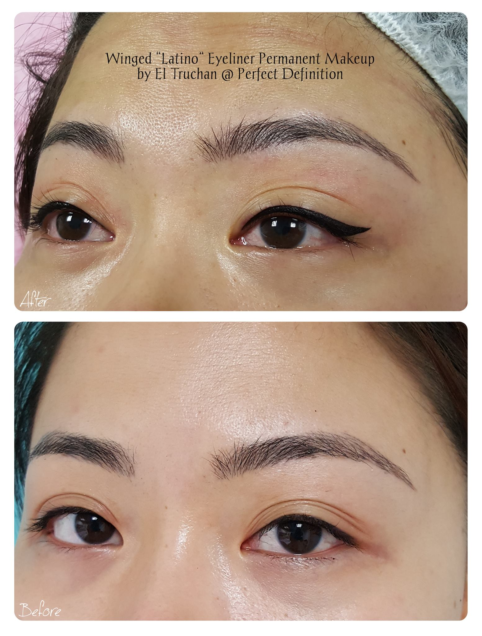 Winged 'Latino' Eyeliner Permanent Makeu