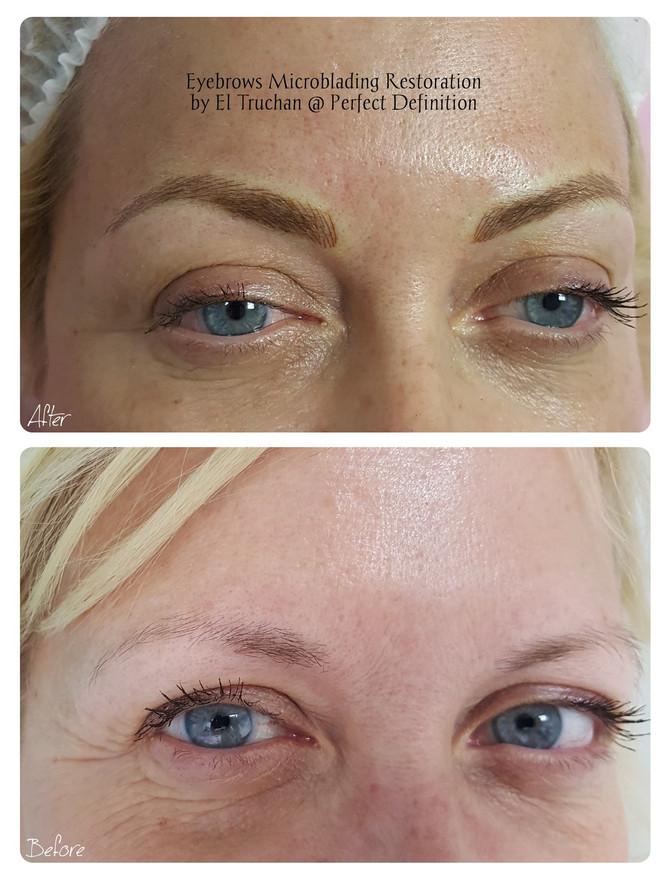 Eyebrows Microblading Restoration by El Truchan @ Perfect Definition