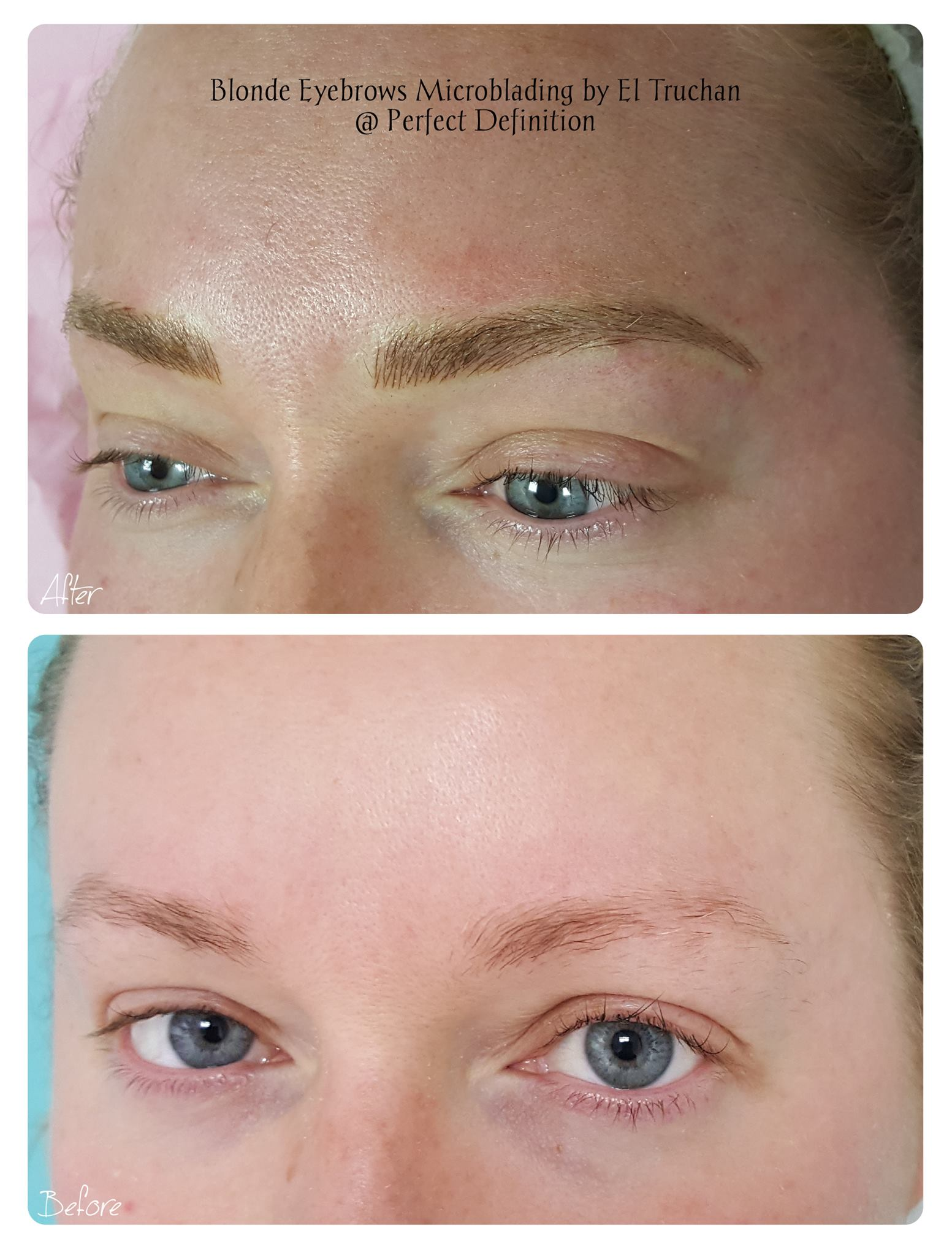 Blonde Eyebrows Microblading Microbladin