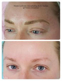 Blonde Eyebrows Microblading Microbladin