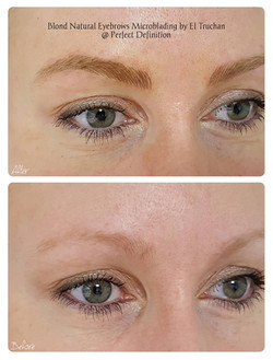 Eyebrows for blondes
