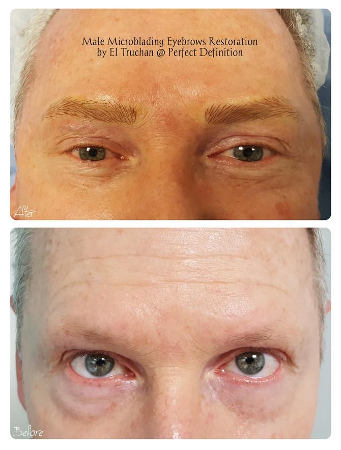 Male Microblading Eyebrows Restoration by El Truchan @ Perfect Definition