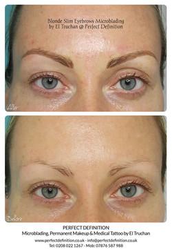 Blonde Slim Eyebrows Microblading by El