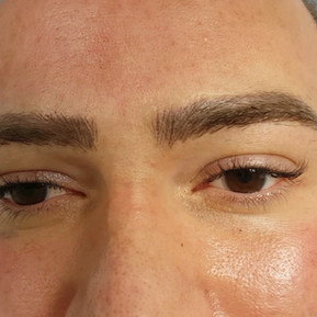 Healed Male 3D Realism Correction eyebrows Microbladed over old tattoo by El Truchan