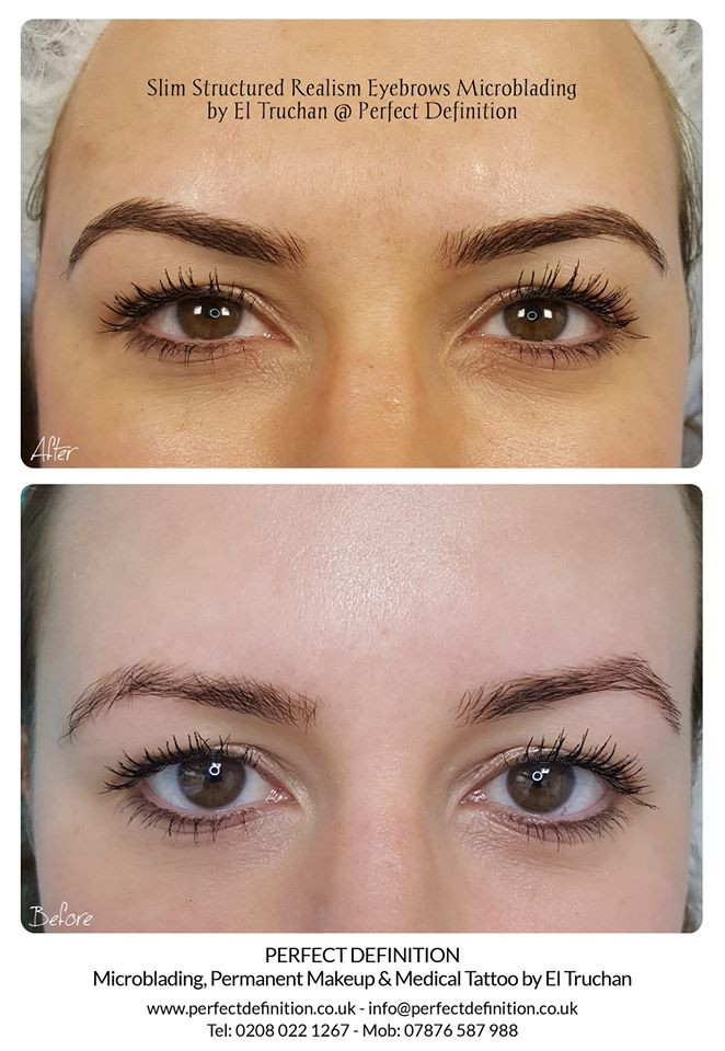 Slim Structured Realism Eyebrows Microblading by El Truchan @ Perfect Definition