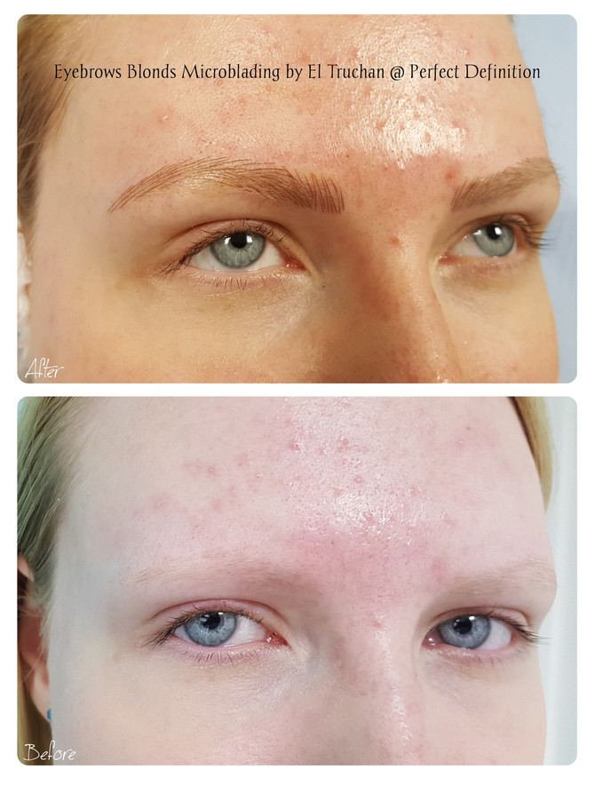 Eyebrows Blondes Microblading by El Truchan @ Perfect Definition