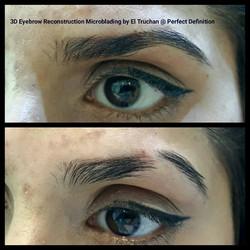 microblading eyebrow reconstruction by El Truchan