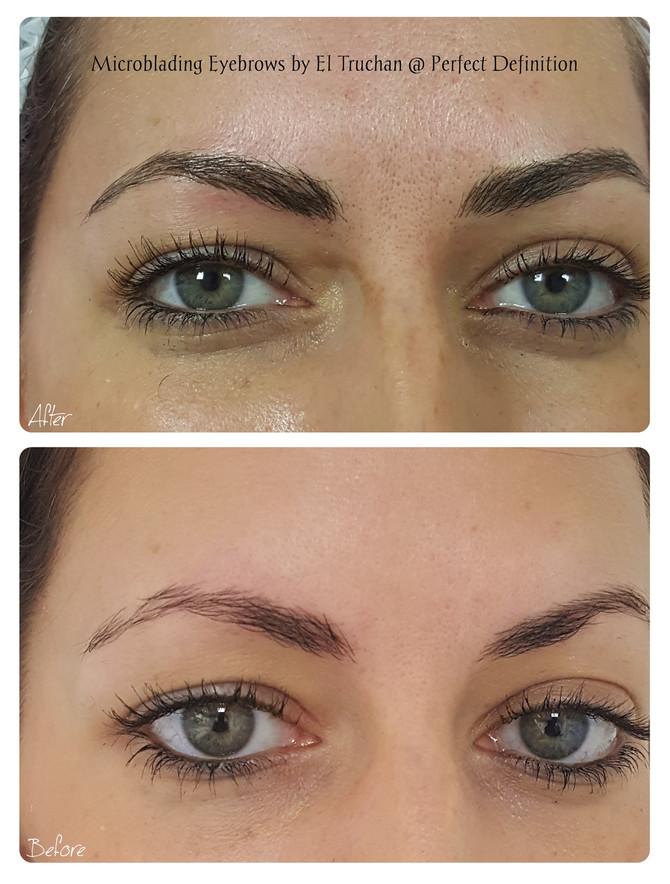 Microblading Eyebrows by El Truchan @ Perfect Definition