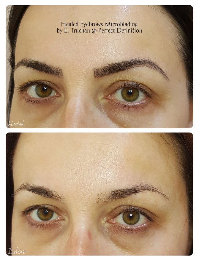 Healed Eyebrows Microblading by El Truchan @ Perfect Definition