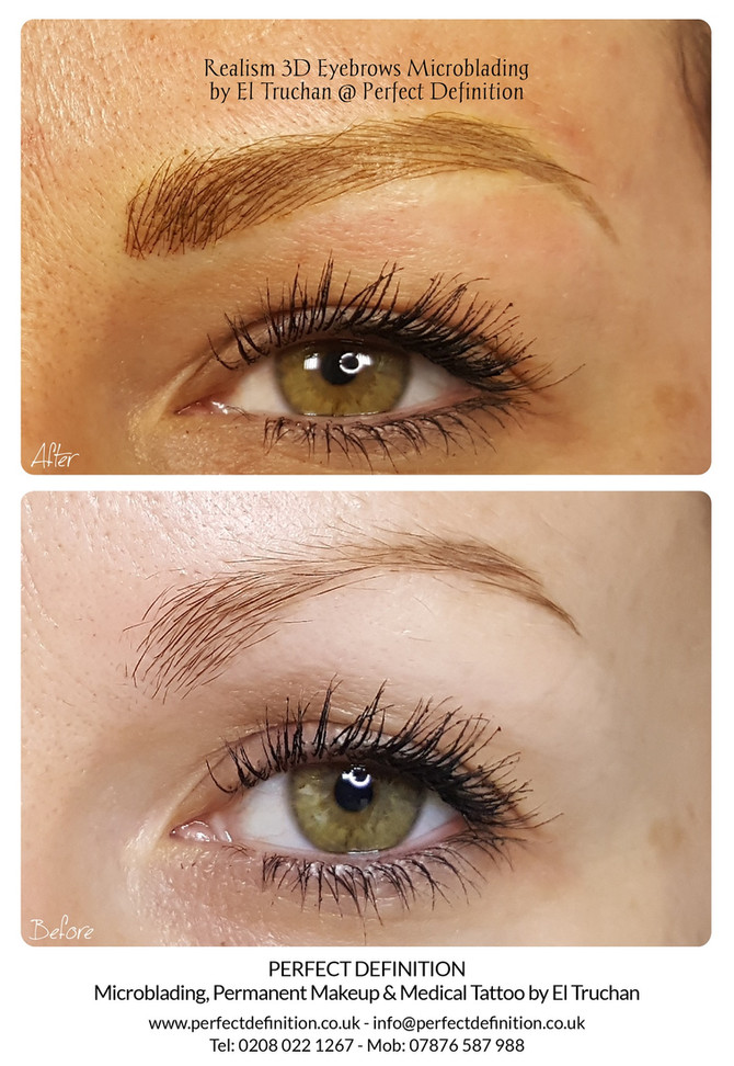 Realism 3D Eyebrows Microblading by El Truchan @ Perfect Definition
