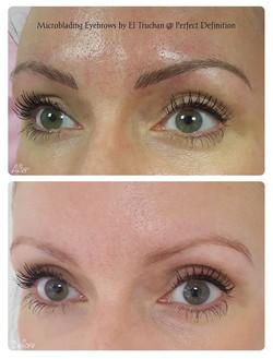 Microblading Eyebrows by El Truchan at P