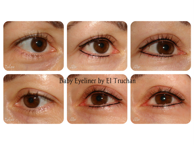 Baby Eyeliner - Semi permanent makeup Before - After