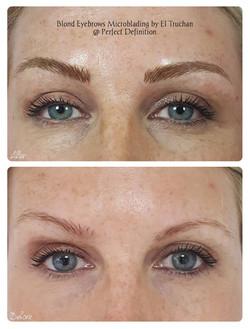 Blonde Eyebrows Microblading