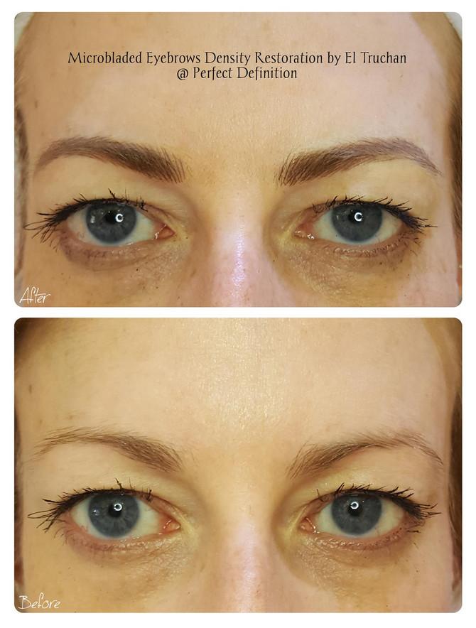 Microbladed Eyebrows Density Restoration by El Truchan @ Perfect Definition