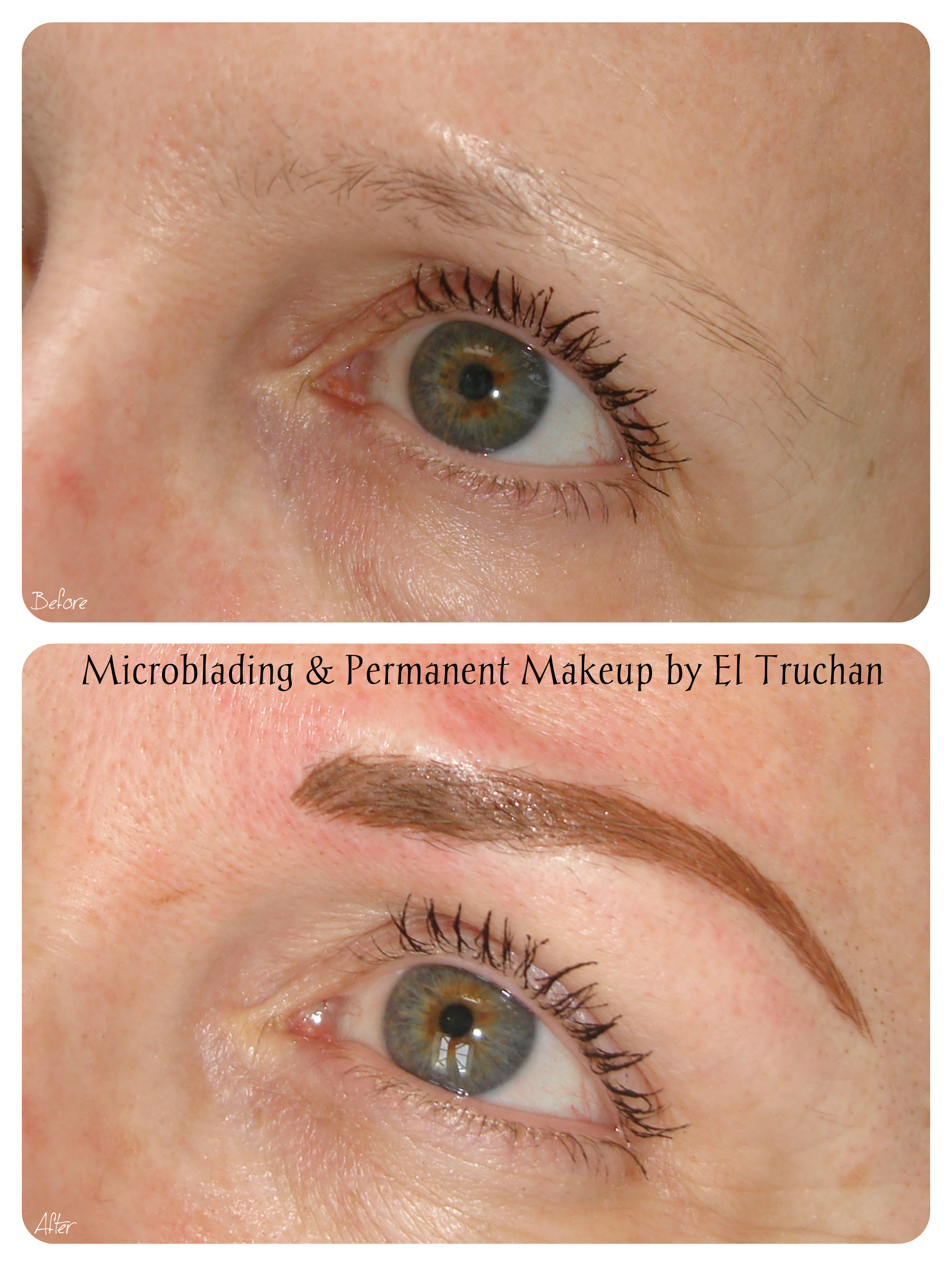 Combination brow Microblading & PMU by El Truchan