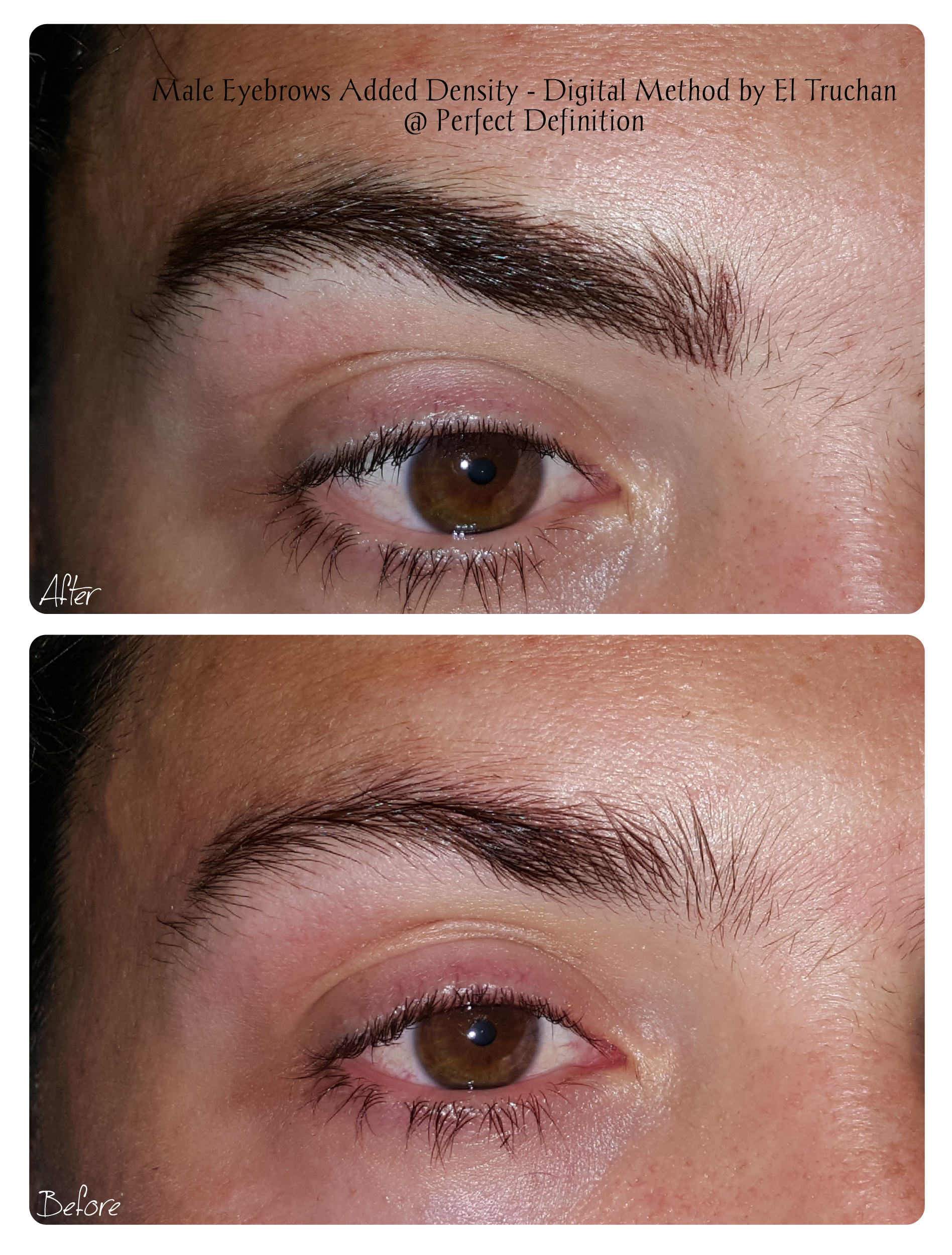 Male Eyebrows Added Density - Digital Me