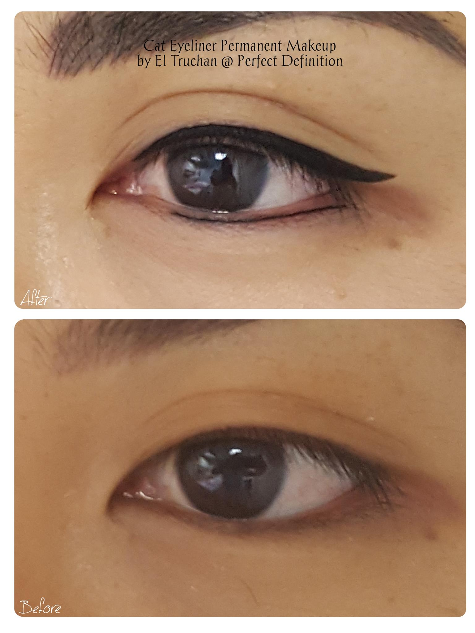 Asian Cat Eyeliner Permanent Makeup by E
