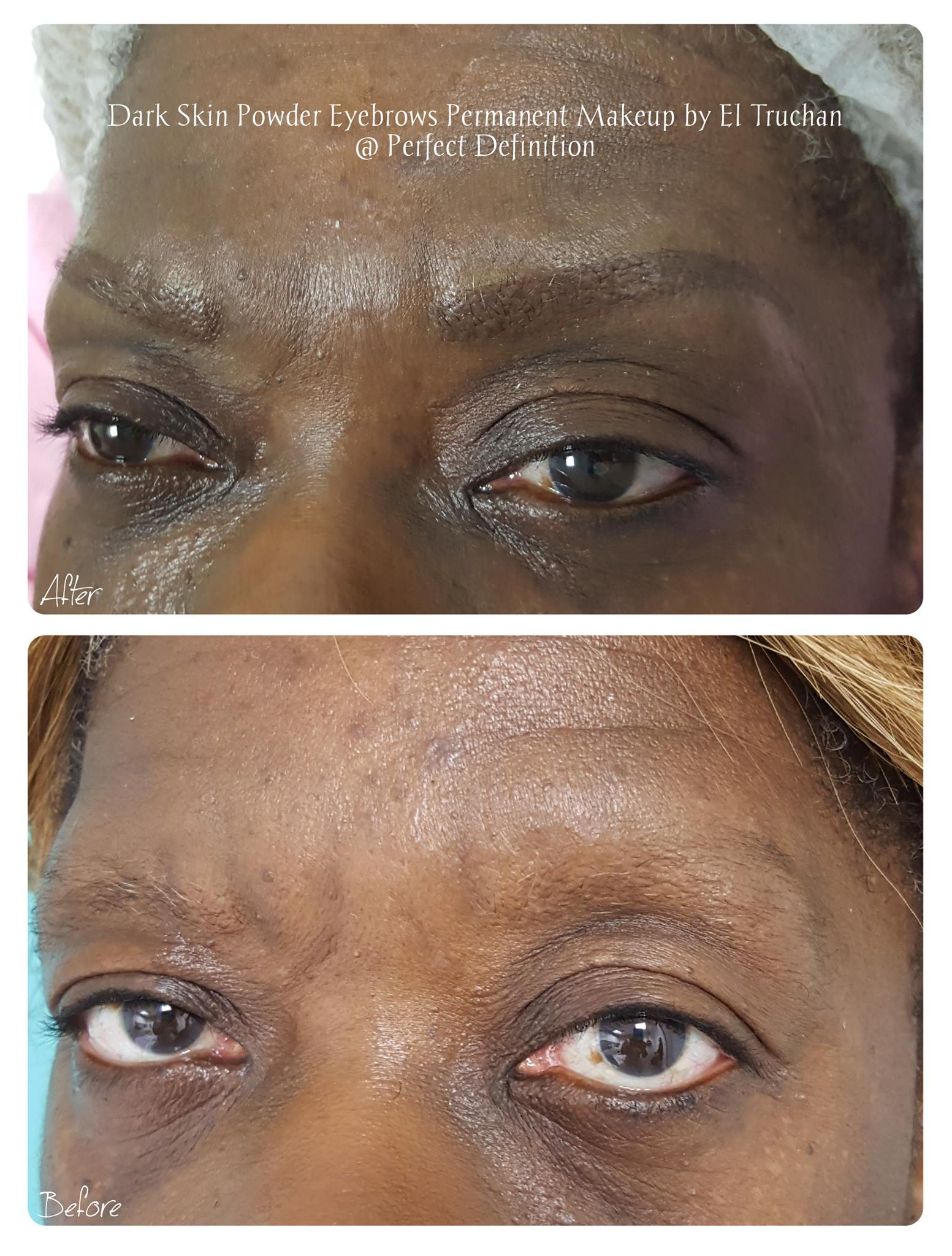 Dark Skin Powder Eyebrows