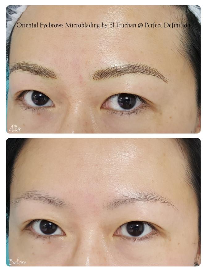 Oriental Eyebrows Microblading by El Truchan @ Perfect Definition