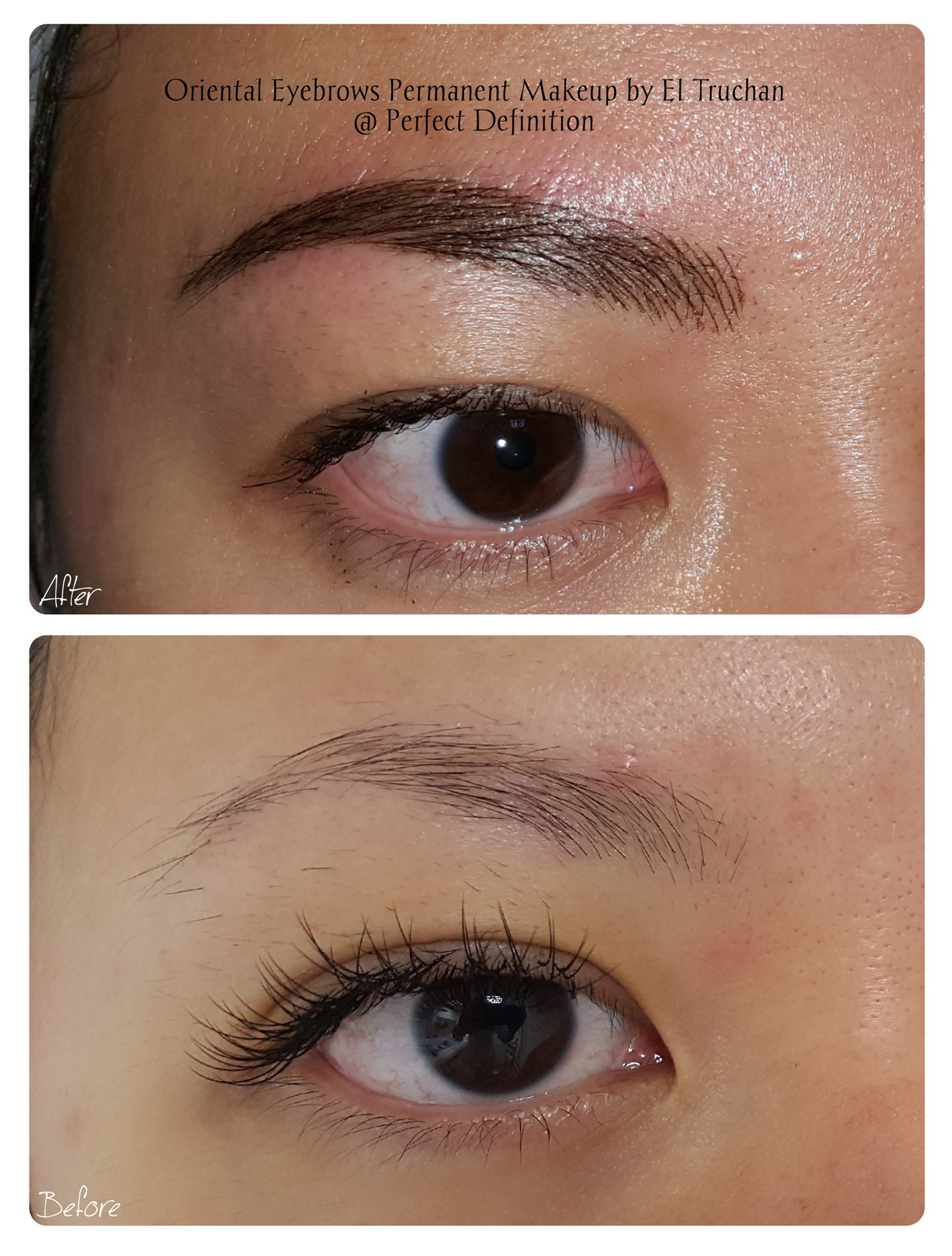 Oriental Eyebrows Permanent Makeup by El
