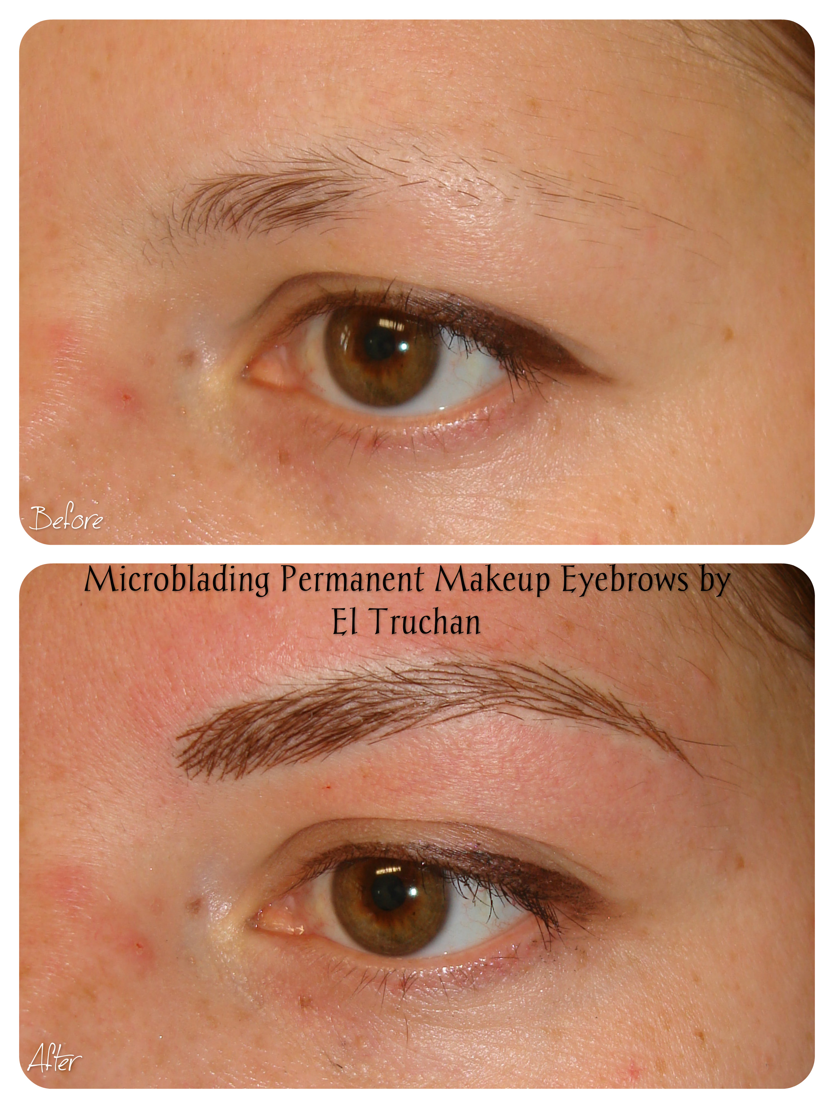 Microblading permanent makeup by El Truchan
