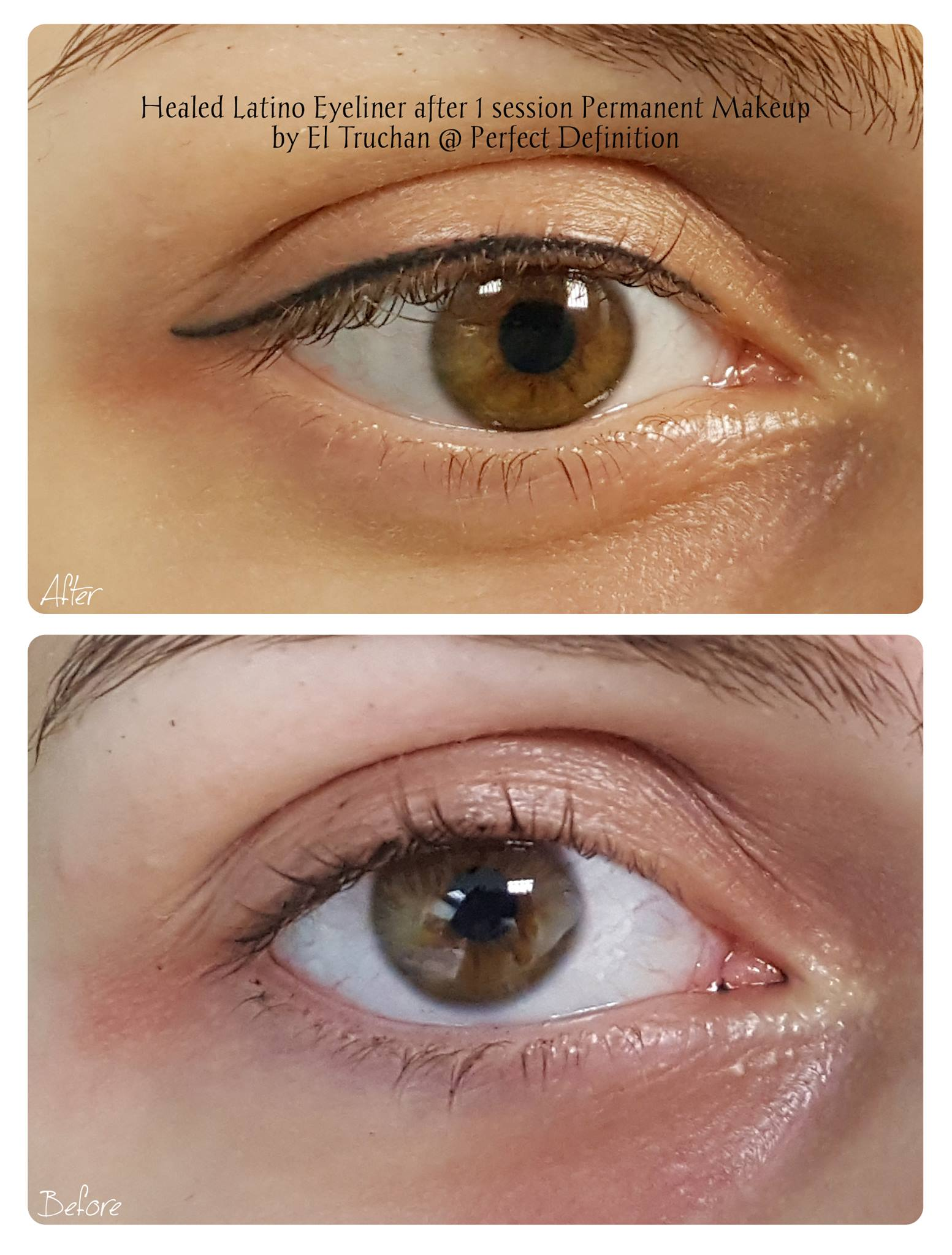 Healed Latino Eyeliner after 1 Session P