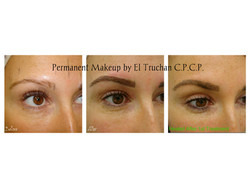 Permanent makeup Eyebrows Healed after 1st treatment by El Truchan