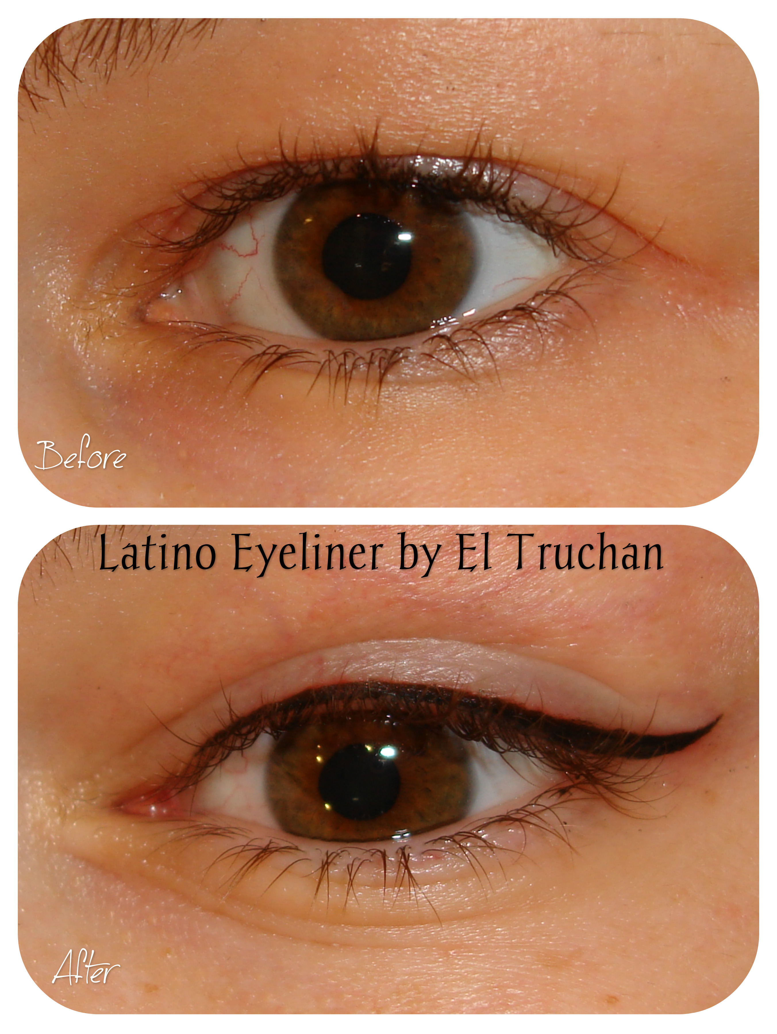 latino Eyeliner Semi Permanent Makeup by El Truchan CPCP..