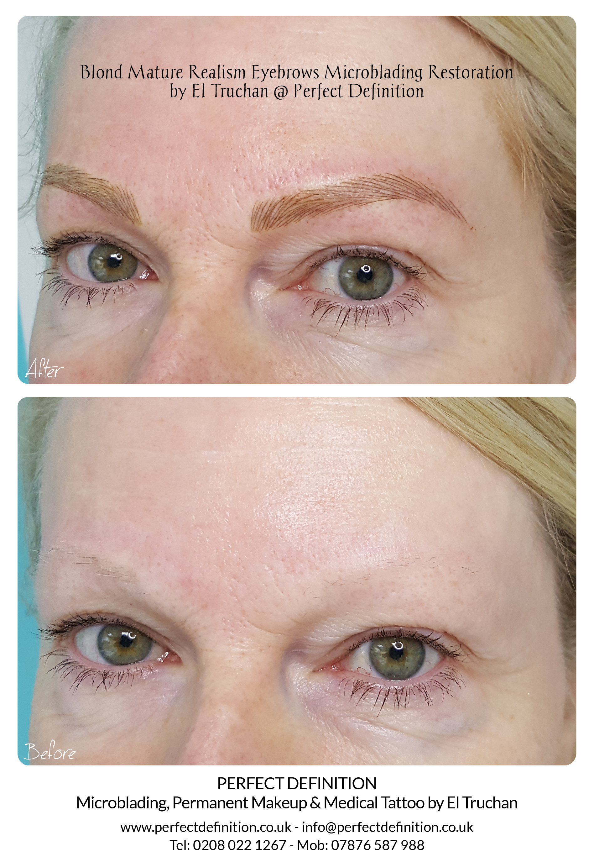 Blond Mature Realism Eyebrows Microbladi