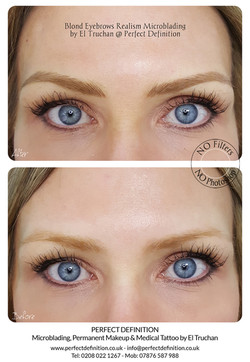 Blond Eyebrows Realism Microblading by E