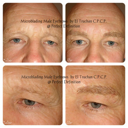 Mans Microbladed Eyebrows by El Truchan _ Perfect Definition