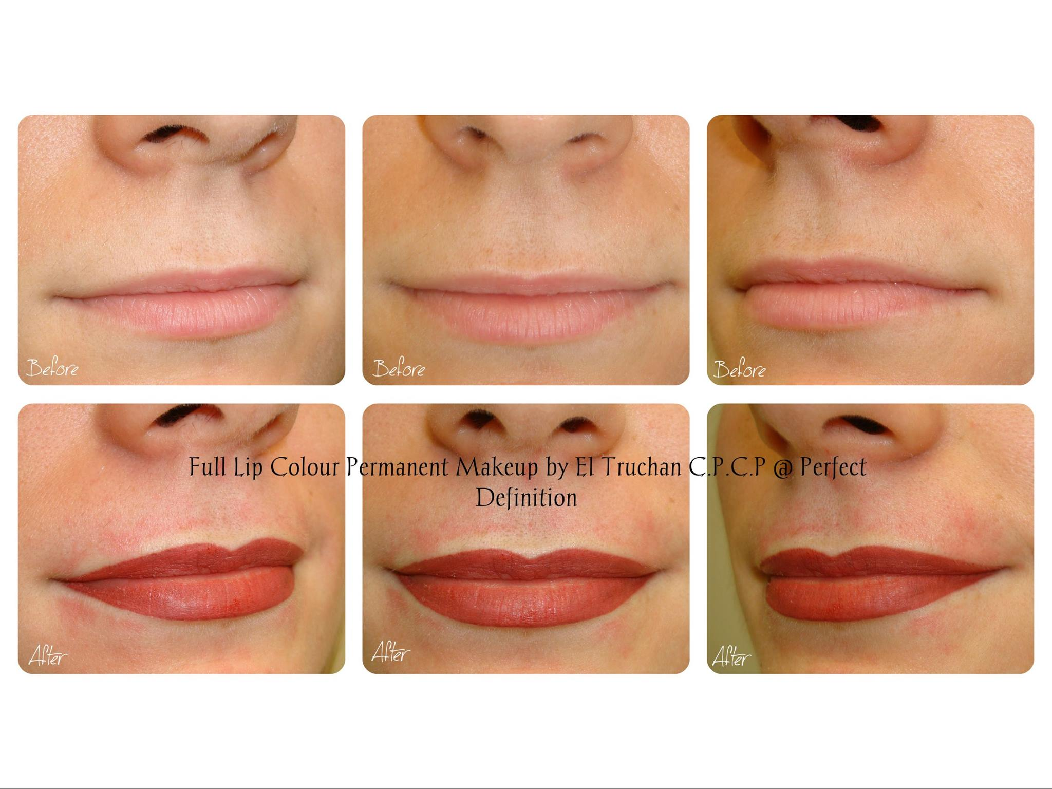 Full lip colour permanent makeup El Truchan