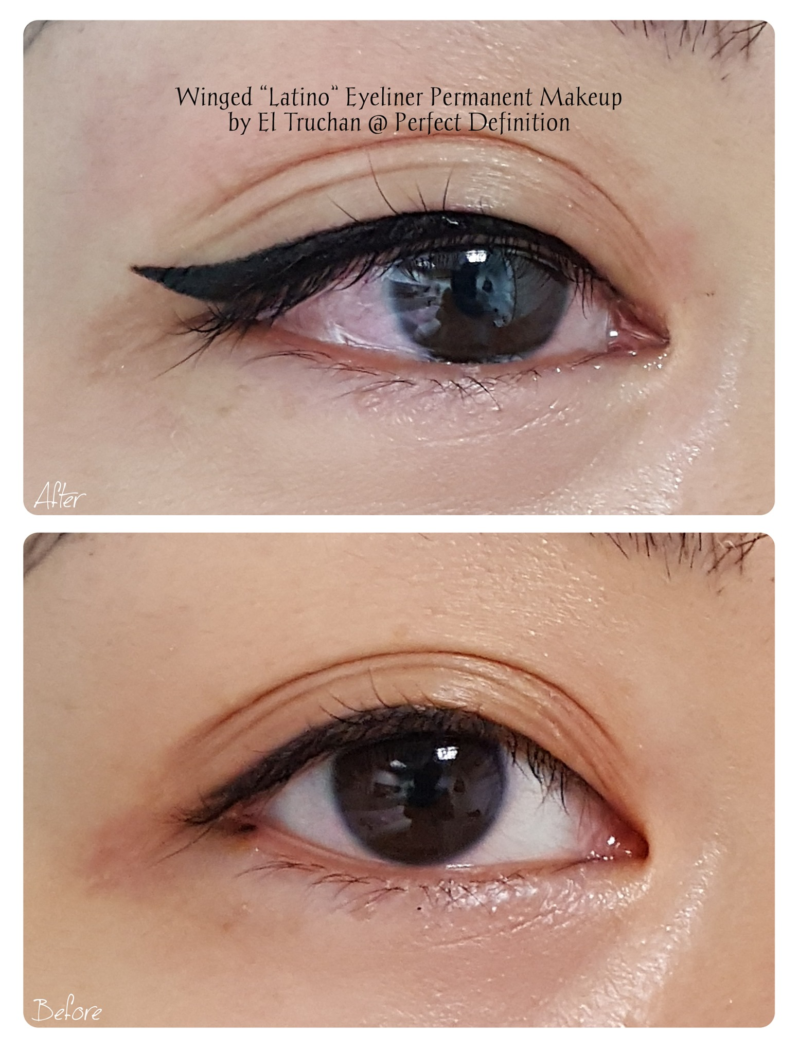 Winged Latino Eyeliner Permanent Makeup