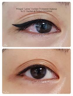 Winged Latino Eyeliner Permanent Makeup