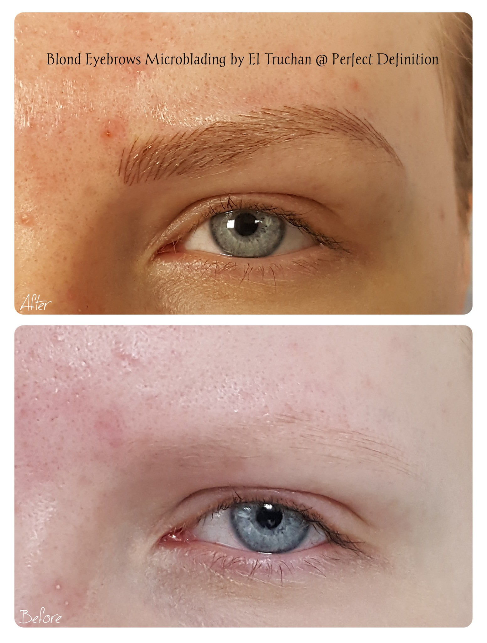 Blonde Eyebrows Microblading by El Truch