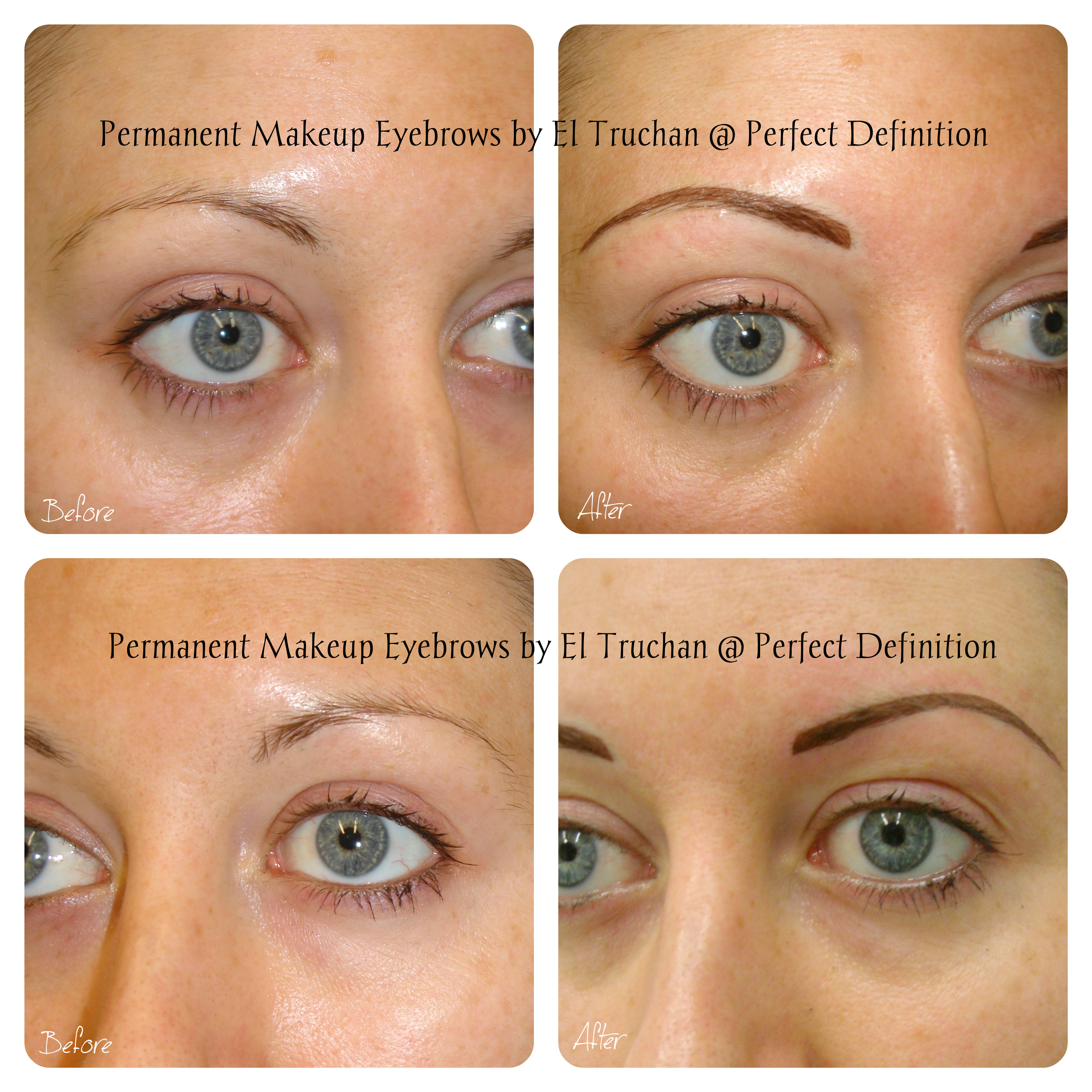 Cosmetic Tattoo Eyebrows by El Truchan _ Perfect Definition.,.