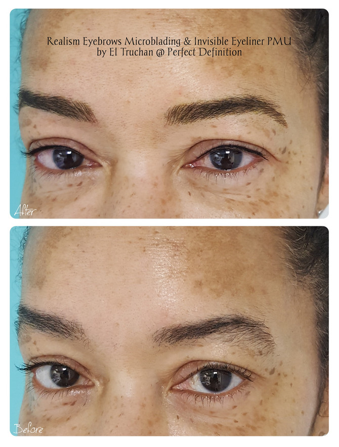 Realism Eyebrows Microblading & Invisible Eyeliner PMU by El Truchan @ Perfect Definition