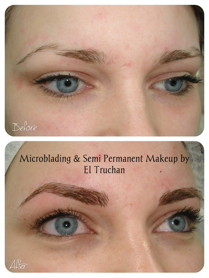 Eyebrows Permanent Makeup - Before & After