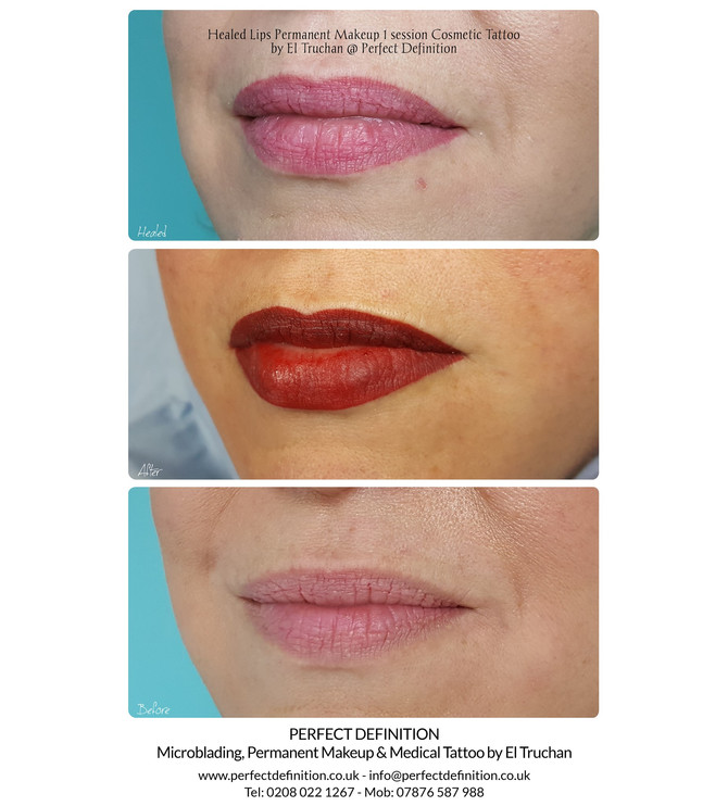 Healed Lips Permanent Makeup Cosmetic Tattoo by El Truchan @ Perfect Definition