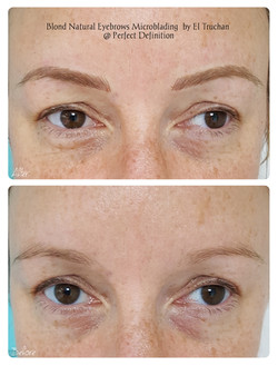 Blond Natural Eyebrows Microblading  by El Truchan  _ Perfect Definition 902