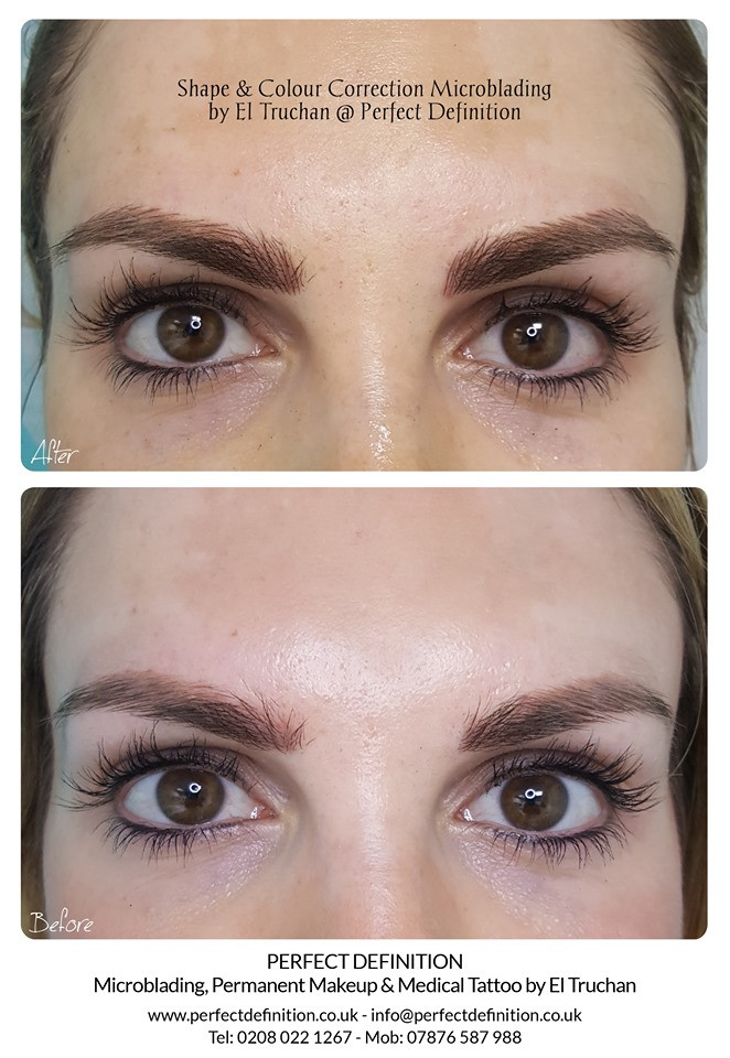 Colour Correction Microblading by El Truchan @ Perfect Definition